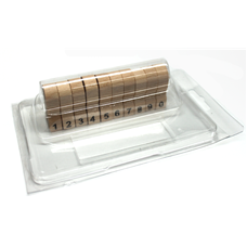 Dřevěná číslovací razítka DC 10, balení 10 ks, otisk max. 10 × 20 mm