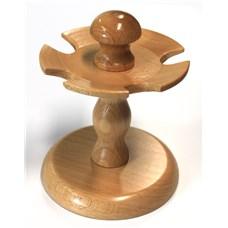Stojánek na razítka jednopatrový, 5 míst, dřevo