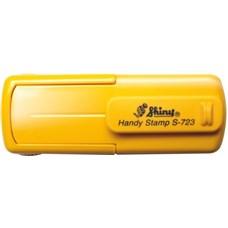 Kapesní razítko S-723, žlutá, rozměr otisku 47 x 18 mm
