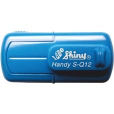 Kapesní razítko S-Q12, modrá, rozměr otisku 12 x 12 mm