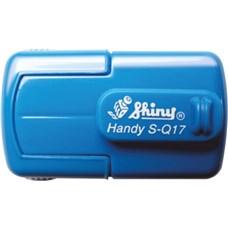 Kapesní razítko S-Q17, modrá, rozměr otisku 17 x 17 mm