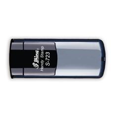 Kapesní razítko S-723, stříbrná, rozměr otisku 47 × 18 mm