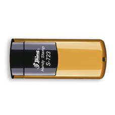 Kapesní razítko S-723, zlatá, rozměr otisku 47 × 18 mm