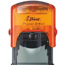 Razítko S-841 New Printer line, oranžový transparentní strojek