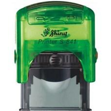 Razítko S-841 New Printer line, zelený transparentní strojek