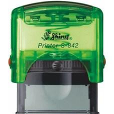 Razítko S-842 New Printer line, zelený transparentní strojek