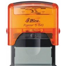 Razítko S-843 New Printer line, oranžový transparentní strojek