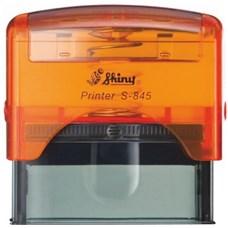 Razítko S-845 New Printer line, oranžový transparentní strojek