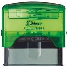 Razítko S-845 New Printer line, zelený transparentní strojek