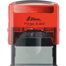 Razítko S-843 New Printer line červená transparentní