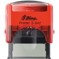 Razítko S-842 New Printer line, červená transprentní