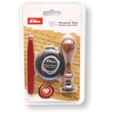 Pečetní razítko WP-052 - set s motivem srdíčka, voskem a separační poduškou