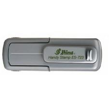 Kapesní razítko ES-723 Eco Line, šedá, rozměr  otisku max. 47 × 18 mm