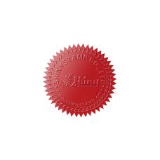 Samolepící hvězdičky (červená), formát A4 (15 ks), pro průměr do 50 mm