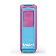 Kapesní razítko Trodat Pocket Printy 9511, turquoise pink