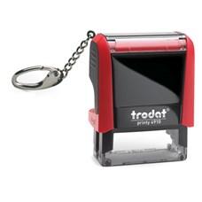 Razítko TRODAT Printy 4910, červená s přívěškem, otisk 26 × 9 mm