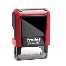 Razítko TRODAT Printy 4910, červená, otisk max 26 × 9 mm