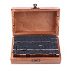 Dřevěná alfabetická a číslovací lištová razítka, 70 ks