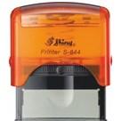 Razítko S-844 New Printer line, oranžový transparentní strojek