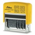 Razítko S-312 Printer line, text + datum, žlutá