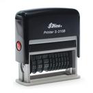 Razítko S-310B - otisk 49 x 5 mm + 1 x datum a 7 číslic (DD.MM.RRRR 1234567)