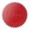 Samolepící hvězdičky (červená), formát A4 (24 ks), pro průměr do 41 mm
