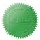 Samolepící hvězdičky (zelená), formát A4 (24 ks), pro průměr do 41 mm